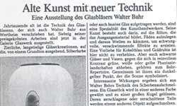 Walter Bahr in der Modeschmuck Galerie Glasschmuck