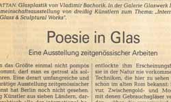 Glasschmuck Galerie Modeschmuck Glasgestalter Berlin