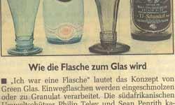 Green Glas Morgenpost Glasschmuck Glaskunst Unikat